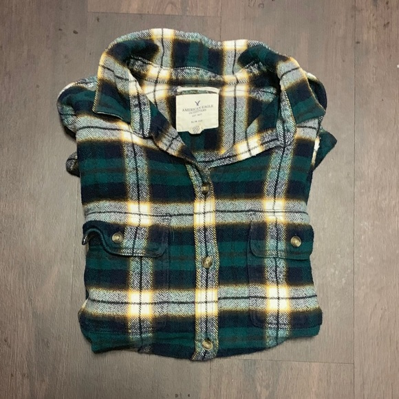 08db51326 American Eagle Outfitters Tops | Green Ae Flannel Shirt | Poshmark